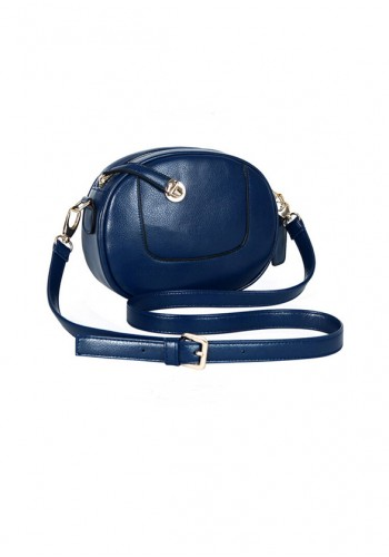 Casual Round Shoulder Bag- Blue