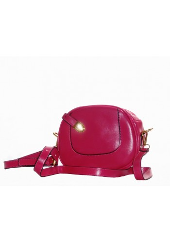 Casual Round Shoulder Bag- Pink