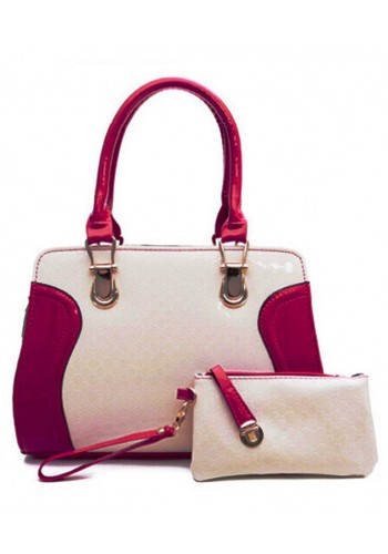 Tote Bag with Wristlet- Pink
