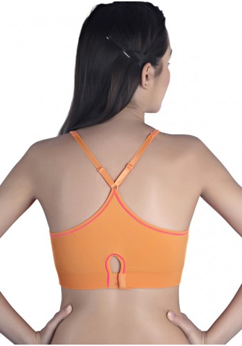 High Impact Racerback Sports Bra- Orange