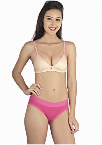 Lightly Lined Molded Non-Wired Teen Bra-Beige