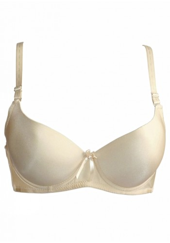 Light Padded Wired Tee-Shirt Bra- Beige