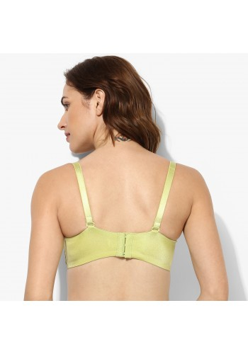 Seamless Cropbust Wide Wing Push Up Bra -Green