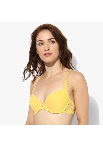 Racerback Front Closure Contour Bra- Yellow