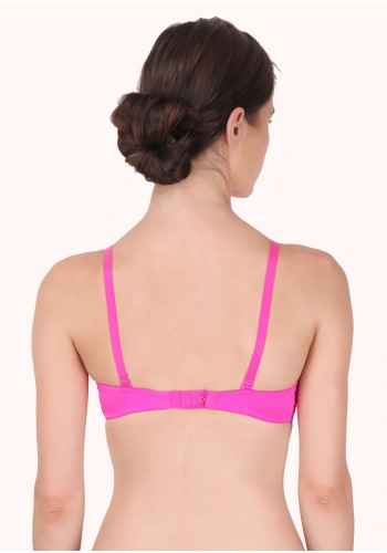 Lace Embrace Lightly Lined Underwired Bra- Magenta