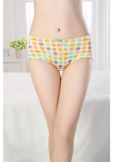 Cute Abstract Print Period Proof Panty- Yellow