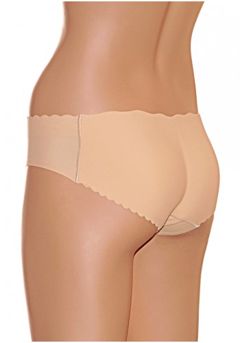 Low Waist Hip Enhancer Panty- Beige