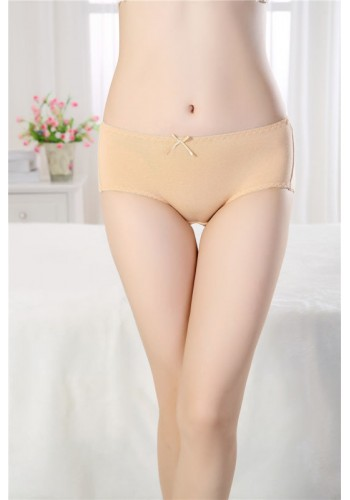 Mid Waist Cotton Period Proof Panty- Beige