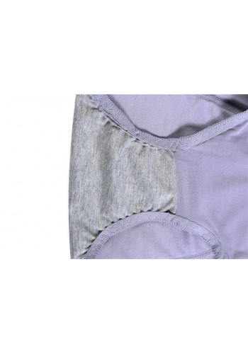 Mid Waist Ultra Soft Period Proof Panty- Violet
