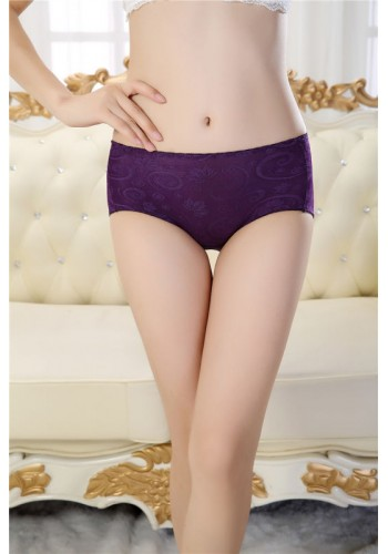 Ultra Soft Low Waist Period Proof Panty- Purple