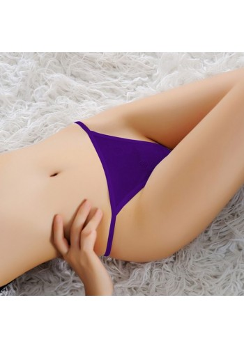 Sexy Heart Back Style G-String- Purple