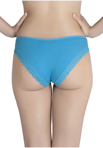 904529879522d ... Ultra Soft Low Rise Bikini Panty with Lace Border - Blue