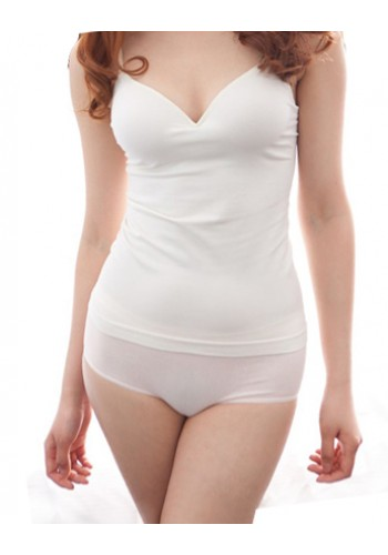 Vest With Bra Pad- White